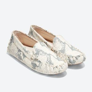 Cole Haan Evelyn Leather Drivers Python Print 5.5